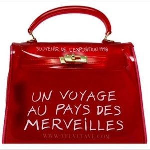 Handbags - Red Script Jelly Bag